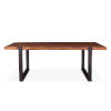 This item: Durango Distressed Aged Teak and Matte Black Dining Table