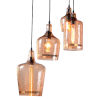 This item: Element Hammered Glass Four-Light Led Pendant