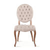 This item: Portia Whitewash Tufted Chairs with Linen Back, Set of 2