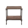 This item: Paxton Weathered Walnut and Gray Zinc Side Table with Wheels