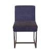 This item: Rebel Navy Blue and Antique Zinc Dining Chair, Set of Two