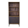 This item: Vallarta Two Tone and Bronze Mango Wood Bookshelf