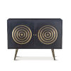 This item: Nubian Ebony And Antique Brass Sideboard
