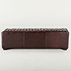This item: Small Tufted Leather Bench