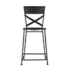 This item: Reclaimed Antique Black Counter-Height Stool