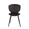 This item: Set of Two Black Faux Leather Dining Chairs