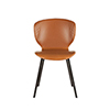This item: Set of Two Tan Faux Leather Dining Chairs