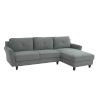 This item: Hanson Dark Gray Sectional Sofa with Rolled Arms