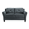 This item: Harvard Dark Grey Loveseat