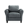 This item: Wilshire Dark Grey Polyester Chair