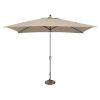 This item: Catalina Beige Rectangle Push Button Tilt Market Umbrella
