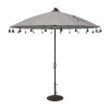 This item: Isabela Cast Silver 8.5-Feet Round Auto Tilt Umbrella