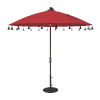 This item: Isabela Jockey Red 8.5-Feet Round Auto Tilt Umbrella