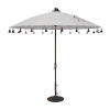 This item: Isabela White 8.5-Feet Round Auto Tilt Umbrella