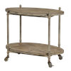 This item: Antique Taupe and White Wash 30-Inch Bar Cart