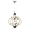 This item: Cottage White and Antique Black 20-Inch One-Light Chandelier