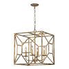 This item: Antique Gold 23-Inch Four-Light Pendant