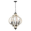 This item: Cottage White and Black 28-Inch Six-Light Pendant