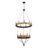 This item: Antique Black and Gray Wash 26-Inch 15-Light Chandelier