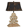 This item: Ivy Distressed White-Wash with Gold Highlights 28-Inch One-Light Table Lamp
