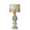 This item: Antique White and Gold 30-Inch One-Light Table Lamp