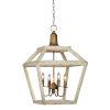 This item: Emmett White Distressed Four-Light Chandelier