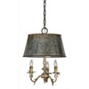 This item: Pemberton Cottage White and Galvanized Three-Light Pendant