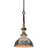 This item: Liza Galvanized 23-Inch One-Light Pendant
