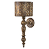 This item: Wells Weathered with Gold Accents 24-Inch One-Light Sconce