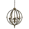 This item: Levi Rustic Bronze Chandelier