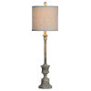 This item: Kitty Distressed Rich Gray One-Light 32-Inch Buffet Lamp