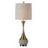 This item: Claudia Concrete and Antique Bronze One-Light 36-Inch Table Lamp, Set of Two