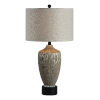 This item: Quinn Dusky Silver and Black One-Light 30-Inch Table Lamp