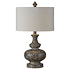 This item: Linden Brown Distressed Table Lamp