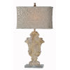 This item: Phoenix Distressed Cream and Brown One-Light 32-Inch Table Lamp