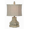 This item: Roma Distressed Blue One-Light 21-Inch Table Lamp