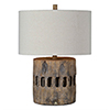 This item: Decklin Weathered Wood 23-Inch One-Light Table Lamp
