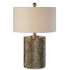 This item: Maverick Hues Of Champagne, Bronze and Silver One-Light 25-Inch Table Lamp
