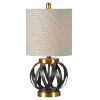 This item: Theo Aged Metal and Antique Bronze One-Light 21-Inch Table Lamp