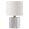 This item: Sloane Crystal and Polished Nickle 12-Inch One-Light Crystal Lamp