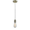 This item: Edison Antique Brass Two-Inch One-Light Mini Pendant with Zebra Cord