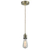This item: Whitney Antique Brass Two-Inch One-Light Mini Pendant with Rope Cord