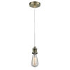 This item: Edison Antique Brass Two-Inch One-Light Mini Pendant with White Cord