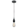 This item: Chelsea Matte Black One-Light Mini Pendant with Brown Cord