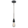 This item: Fairchild Matte Black One-Light Mini Pendant with Brown Cord