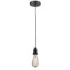 This item: Whitney Matte Black Two-Inch One-Light Mini Pendant with Zebra Cord
