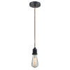 This item: Whitney Matte Black Two-Inch One-Light Mini Pendant with Copper Cord