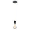 This item: Edison Matte Black Two-Inch One-Light Mini Pendant with Copper Cord