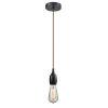 This item: Chelsea Matte Black One-Light Mini Pendant with Copper Cord