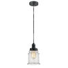This item: Whitney Matte Black Eight-Inch One-Light Mini Pendant with Gray Cord